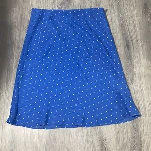 Blue Polk Dot Skirt